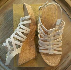 NWT Rampage Josie Strappy Cork Wedge Sandals